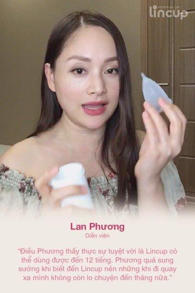 Lan Phương dùng cốc nguyệt san Lincup