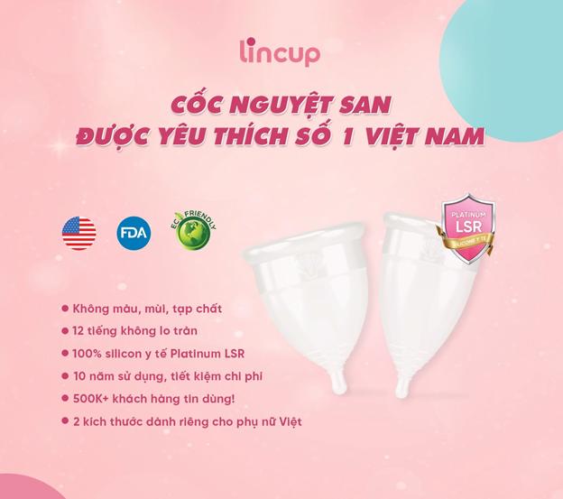 Cốc nguyệt san được yêu thích số 1 Việt Nam