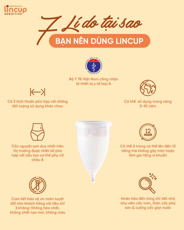 7 lí do nên sử dụng cốc nguyệt san