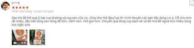 Fedback của khách về cốc nguyệt san Lincup